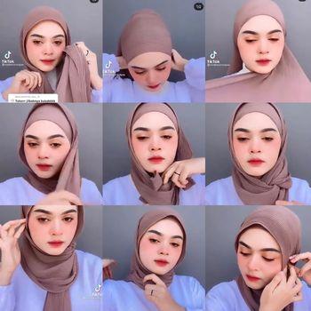 tutorial hijab plisket