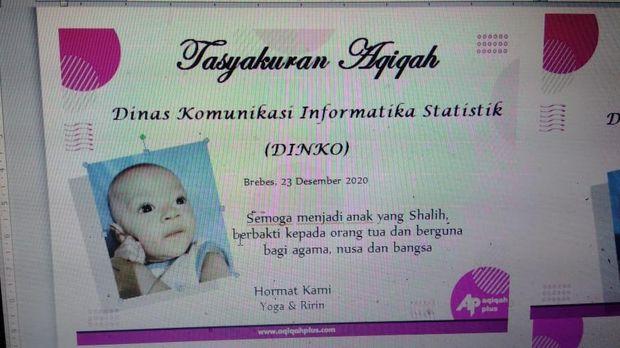 Bayi di Brebes bernama Dinas Komunikasi Informatika Statistik