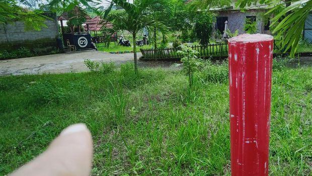 Kompleks rumah situs Wonoboyo di Desa Wonoboyo, Kecamatan Jogonalan, Klaten tertabrak proyek jalan tol Yogya-Solo