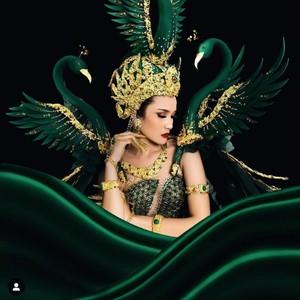 10 Pesona Intan Wisni, Finalis yang Gelagapan di Top 10 Miss Eco International