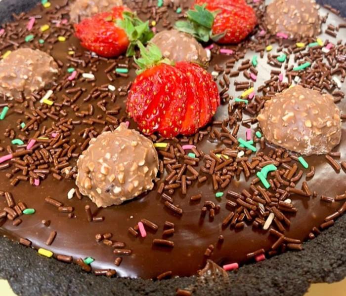Pie Cokelat Lapis Tanpa Oven