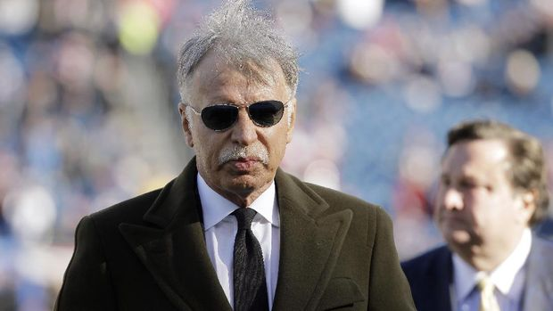 Los Angeles Rams owner Stanley Kroenke walks on the field before an NFL football game between the Rams and the New England Patriots, Sunday, Dec. 4, 2016, in Foxborough, Mass. (AP Photo/Steven Senne)