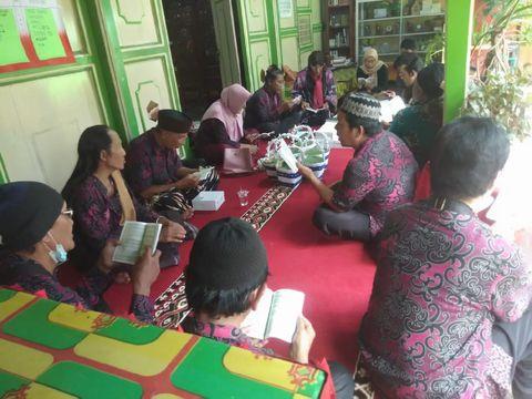 Suasana Nyadran jelang Ramadhan di Ponpes Al-Fatah Yogyakarta, Selasa (7/4/2021).