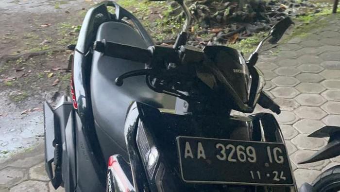 Barang bukti motor korban pembunuhan tersangka NAF, Dessy ditemukan di Magelang, Jawa Tengah