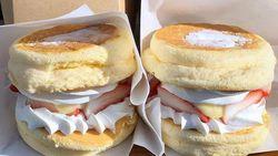 Pancake Burger dengan Isian Krim Jadi Tren Dessert Kekinian
