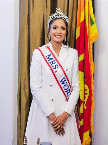 Mrs. World 2020 Caroline Jurie.