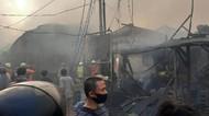 Penampakan Kebakaran di Pasar Kambing Tanah Abang, Hewan Diungsikan