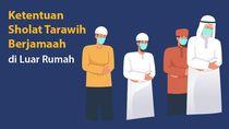Ketentuan Sholat Tarawih Berjamaah di Luar Rumah saat Masih Pandemi