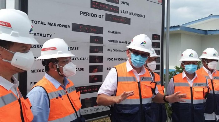 Komut Pertamina Basuki Tjahaja Purnama alias Ahok kunjungan kerja ke Lapangan Unitisasi Gas Jambaran - Tiung Biru