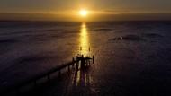 Pagi Temaram di Laut Baltik Jerman