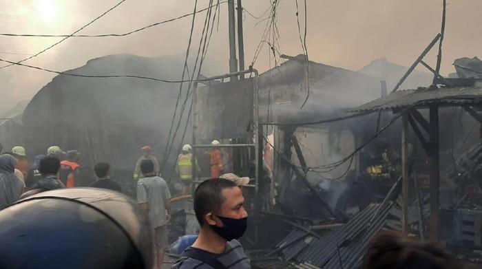 Pasar Kambing kebakaran (Fathan/detikcom)