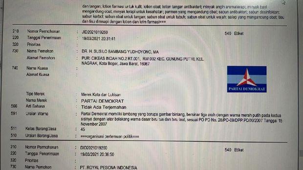 Pendiri Partai Demokrat Hengky Luntungan mengungkap Susilo Bambang Yudhoyono (SBY) mendaftarkan PD ke Hak Kekayaan Intelektual (Haki) atas nama pribadi. (Dok. Istimewa)