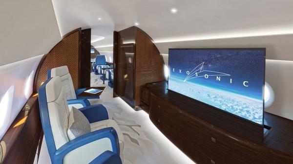 Dua suite pribadi adalah ruang pertemuan untuk tiga penumpang. Ada fasilitas telekonferensi video yang aman sehingga pengunjung VVIP dapat bekerja secara online atau berbicara dengan pers.