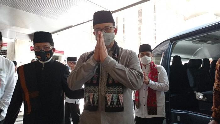 Anies dan Riza di Masjid Istiqlal (Wilda-detikcom)