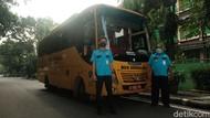 Potret Bus Sekolah di DKI Siap Antar Jemput Siswa Diuji Coba Belajar Tatap Muka