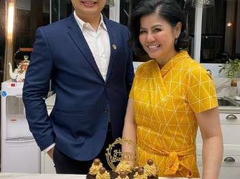 Momen Calvino Samudra dan Desiree Tarigan saat Rayakan Ulang Tahun