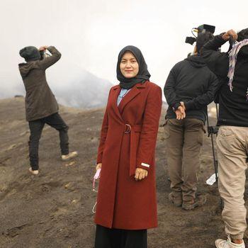 Foto JIhan Malik ketika berada di lokasi virtual show Heavenlights.
