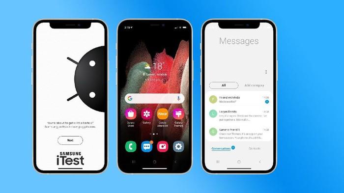 iTest, aplikasi web yang bisa ubah iPhone jadi Samsung Galaxy
