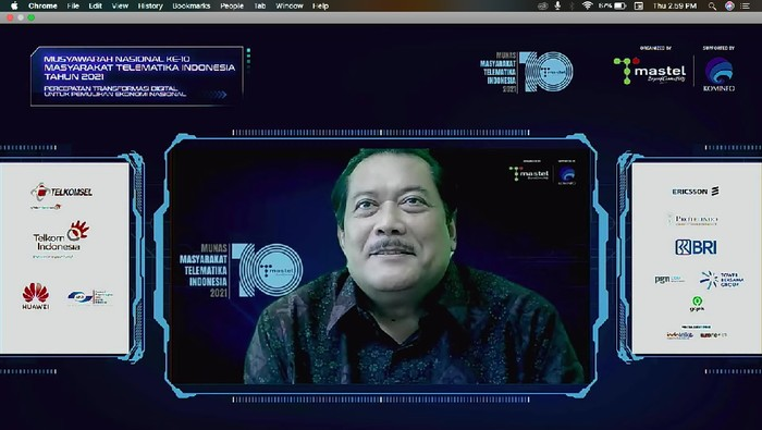 Ketua Umum Mastel Sarwoto Atmosutarno