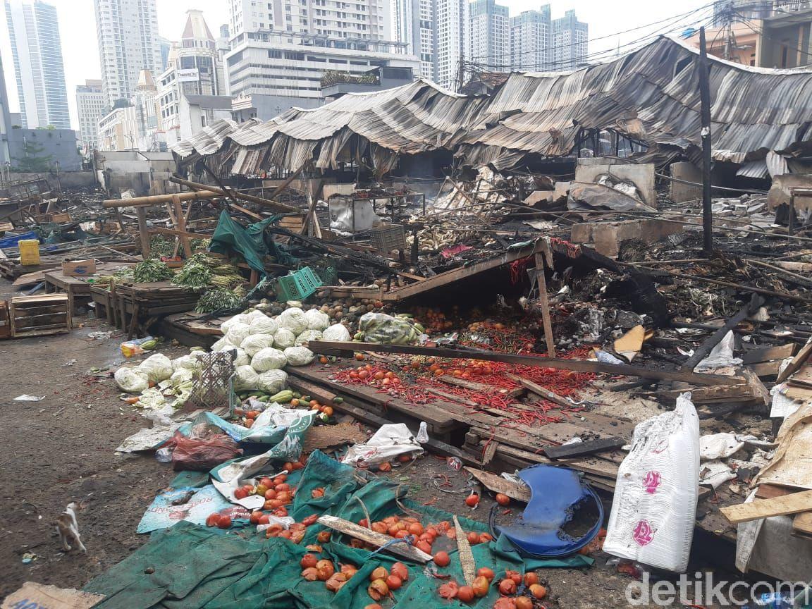 Pasar Kambing Tanah Abang Kebakaran