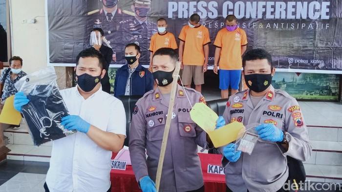 Rilis kasus tewasnya remaja MRS (15) usai latihan silat di Mapolres Klaten, Jumat (9/4/2021)