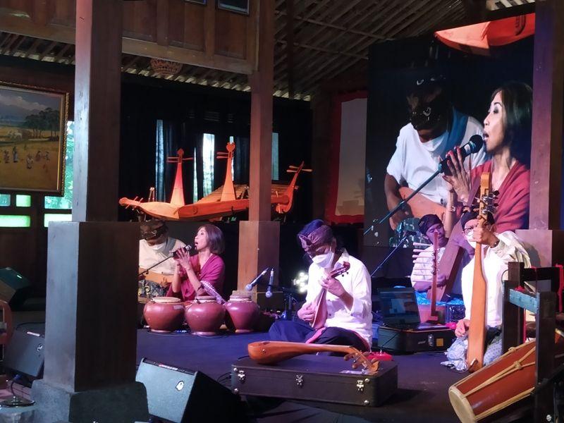 Sound of Borobudur yang berlangsung di Omah Mbudur, Jowahan, Wanurejo, Borobudur, Kabupaten Magelang, Kamis (8/4/2021).