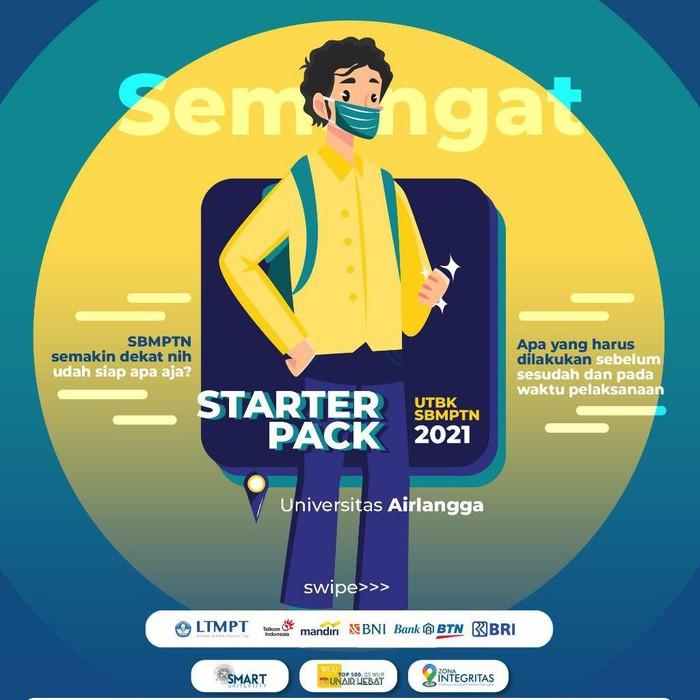 Ujian Tulis Berbasis Komputer Seleksi Bersama Masuk Perguruan Tinggi Negeri (UTBK-SBMPTN) 2021 akan digelar serentak mulai 12 April 2021. Ini yang harus disiapkan peserta UTBK Universitas Airlangga (Unair) Surabaya.