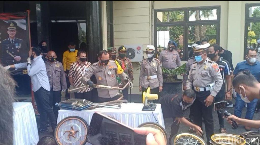 Meresahkan, 237 Motor Diamankan Saat Aksi Balap Liar di Nganjuk
