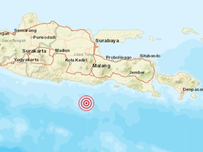 Gempa Malang M 6,7 10 April 2021. (Dok BMKG)