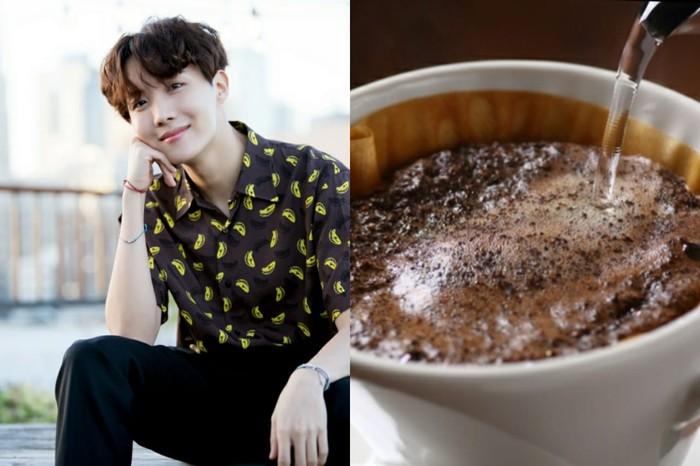 J-Hope BTS bikin kopi drip