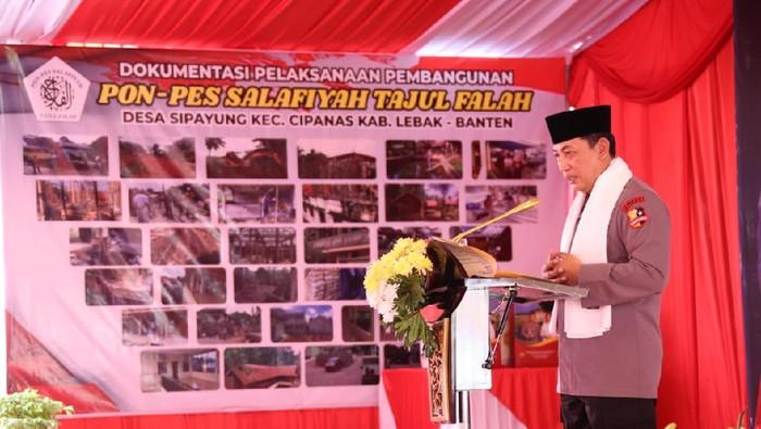 Kapolri Jenderal Listyo Sigit Prabowo di Ponpes Salafiyah Tajur Falah