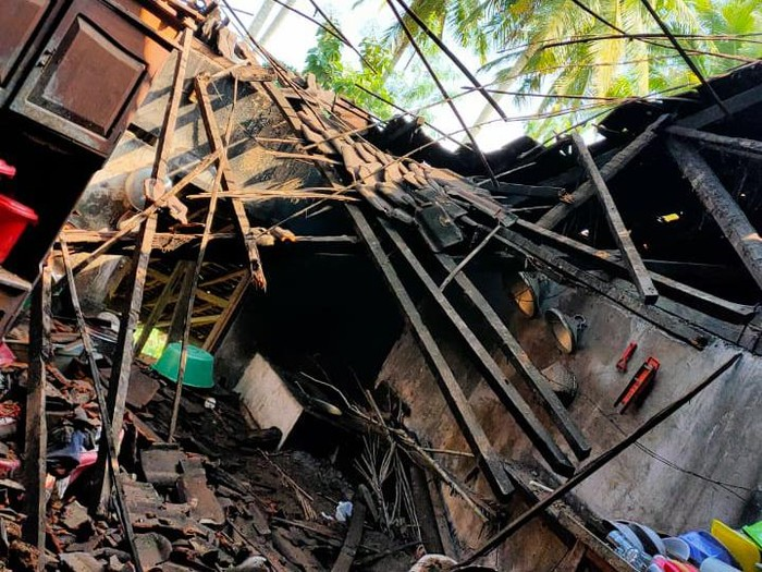 Rumah warga di kawasan Malang selatan, Kabupaten Malang rusak akibat gempa M 6,7 (dok. Istimewa).
