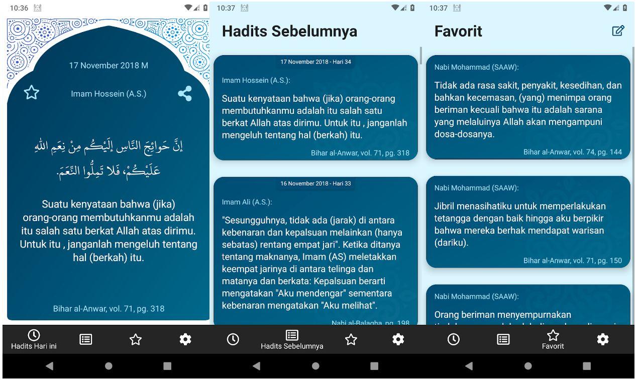 Aplikasi Hadits