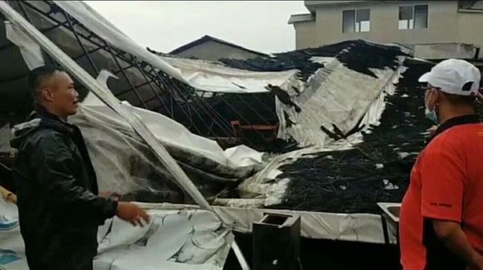 Bangunan rusak di Bandung Barat.