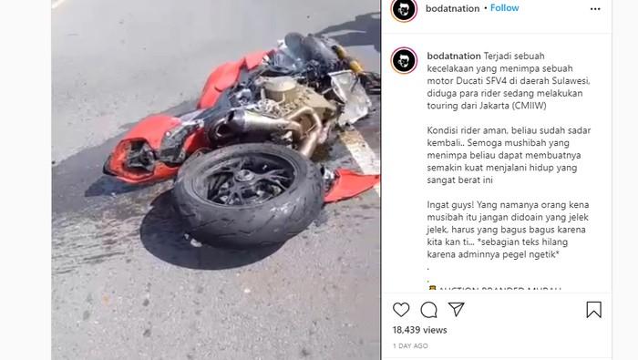 Ducati Streetfighter V4 ringsek kecelakaan di Sulawesi