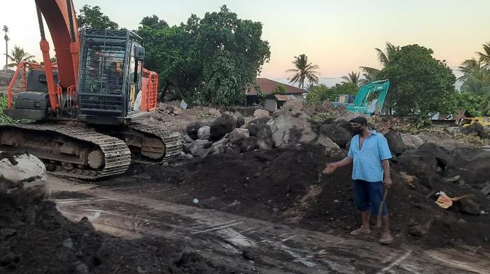 Kondisi di Desa Nelelamadike, Flores Timur usai seminggu pasca-banjir Nusa Tenggara Timur (NTT), Minggu (11/4/2021).
