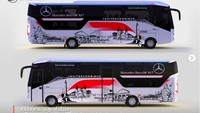 Gaet Seniman Asal Semarang, Livery Bus Laksana Edisi Merdeka Keren Abis!