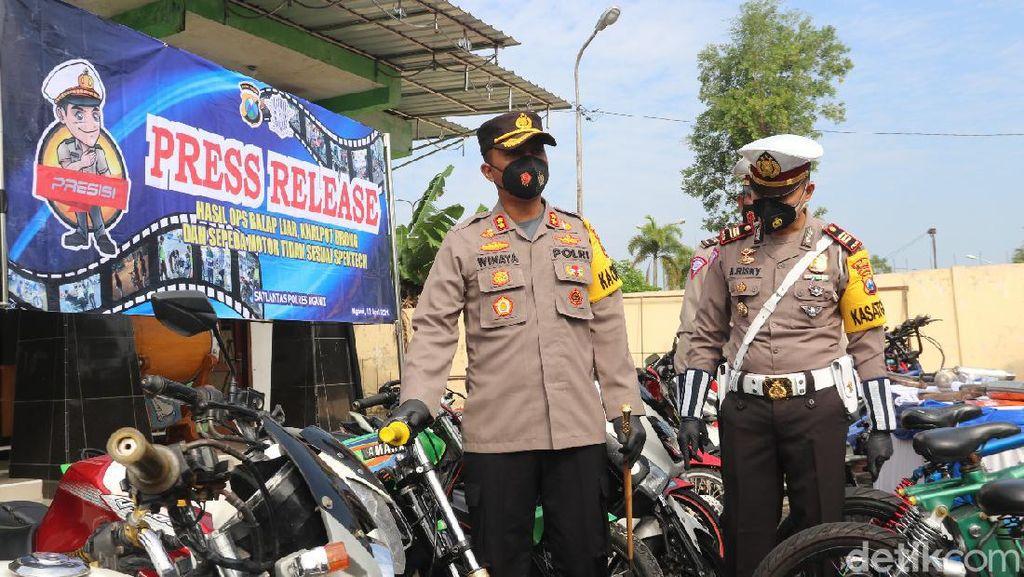 Operasi Pekat Jelang Ramadhan di Ngawi Jaring 46 Motor Berknalpot Brong