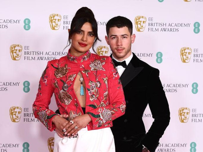 LONDON, ENGLAND - APRIL 11: Awards Presenter Priyanka Chopra Jonas attends the EE British Academy Film Awards 2021 at the Royal Albert Hall on April 11, 2021 in London, England. (Photo by Jeff Spicer/Getty Images)