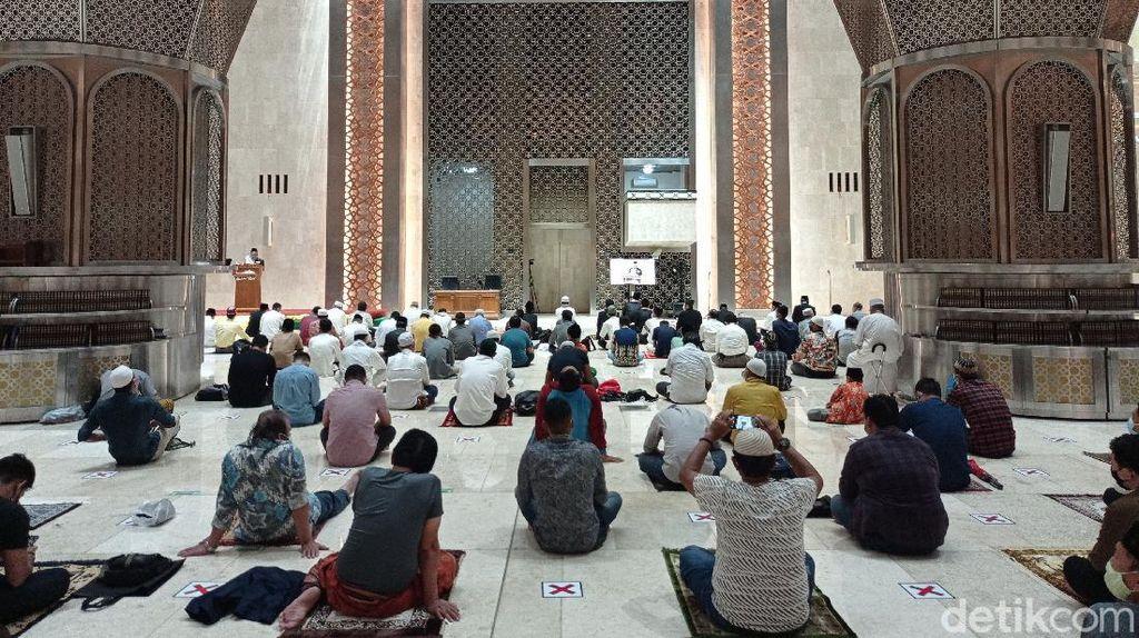 Bahagianya Jemaah Bisa Salat Tarawih Lagi di Masjid Istiqlal Jakpus