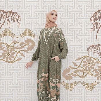 Koleksi dres dan tunik print pattern dari Restu Anggraini Official.