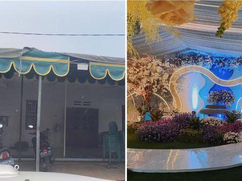 Viral dekorasi pernikahan di rumah seperti gedung