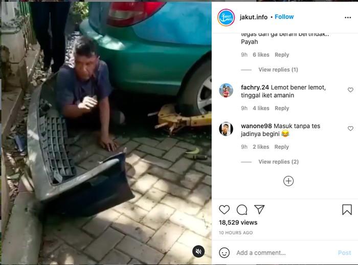 aksi pencurian sparepart mobil