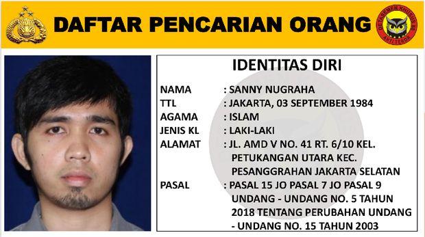 DPO Teroris Saiful Basri dan Sanny Nugraha diburu Densus 88 Antiteror. Foto dikirim orang Densus