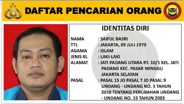 DPO Teroris Saiful Basri dan Sanny Nugraha diburu Densus 88 Antiteror. Foto dikirim orang Densus.