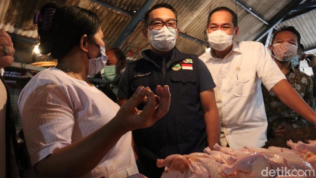 Hari Pertama Puasa, Mendag-RK Pantau Harga Kebutuhan Pokok di Bandung