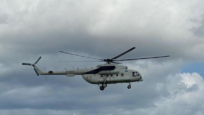 Helikopter yang sempat dibakar KKB Papua di Bandara Ilaga (dok. Istimewa).