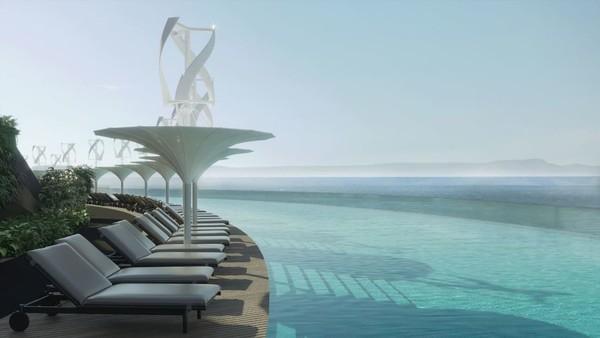 Selain itu, hotel ini juga mengolah air bekas sehingga lingkungan laut tidak rusak. Mereka juga memiliki unit pemisah limbah untuk mendaur ulang zat-zat seperti limbah makanan. Foto: Hayri Atak Architectural Design Studio/CNN
