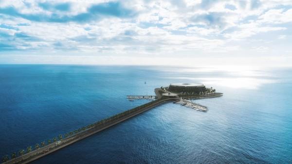 Saat ini proyek tersebut memang masih memasuki tahap desain. Tim memproyeksikan pembangunan hotel selesai pada tahun 2025. Foto: Hayri Atak Architectural Design Studio/CNN