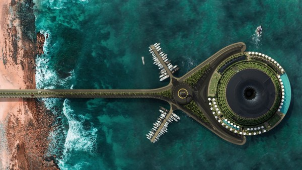 Hotel terapung ini merupakan hasil dari desain Studio Desain Arsitektur Hayri Atak yang berasal dari Turki. Konsep dari hotel ini adalah ramah lingkungan.Foto: Hayri Atak Architectural Design Studio/CNN